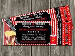 Free Printable Movie Tickets Invitations Download Them Or Print