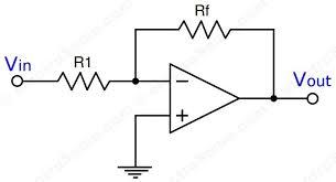 inverting amplifier using opamp circuit diagram