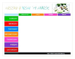Using This Template For Weeks Menu Weekly Meal Planning And Other ...