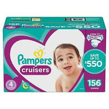Details About Pampers Cruisers Diapers Size 4 156 Ct For Babies Weigh 22 37lb