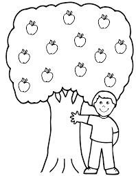 Imprime Ce Coloriage Pour Les Enfants Arbres Pomme Pinterest