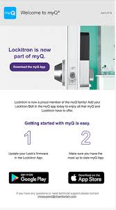 Chamberlain Technical Support Email From Chamberlain Myq App General Lockitron