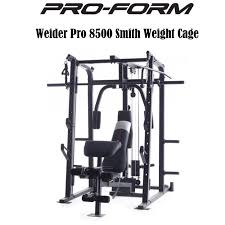 Proform Weider Pro Smith Weight Cage Home Gym Featuring