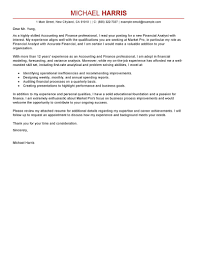 Awesome Financial Accountant Cover Letter Sample 88 For Your