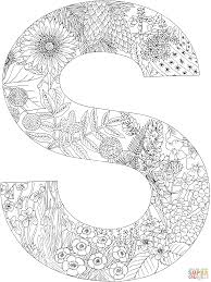 Stencil fonts and printable lettering. Letter S Coloring Page Free Printable Coloring Pages Abc Coloring Pages Coloring Letters Alphabet Coloring Pages