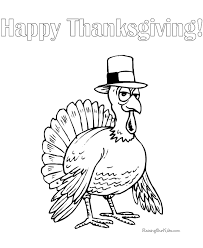 Happy Thanksgiving Turkey Coloring Pages 024 Coloring Home