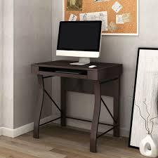 desk with keyboard tray dark espresso d