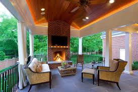 an outdoor fireplace is all you need to keep summer going pertaining to coolest outdoor fireplace