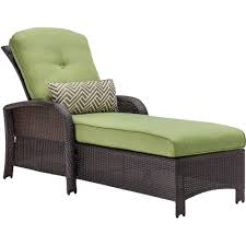 hanover strathmere all weather wicker patio luxury chaise with cilantro green cushion