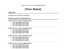 Brief Resume Format Brief Resume Format Facile Brief Resume Format 4 ...