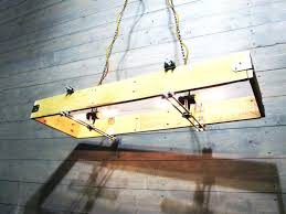 metal and wood rectangular chandelier made from recycled pallet lamps chandeliers o id lights ch