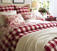 red plaid comforter blue and duvet covers