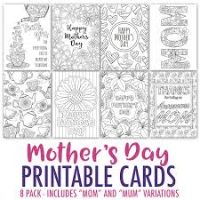 these printable mother s day cards are fun to color in and a great way to personalize