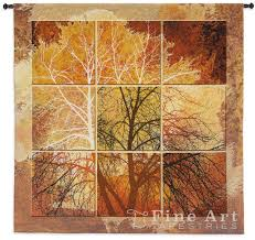 october light contemporary tapestry wall hanging abstract tree picture h55 x w52