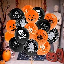Halloween balloon decorations Loot Bag Diy Image Unavailable Pinterest Amazoncom Outgeek Halloween Balloons 100 Pcs 12 Inch Latex
