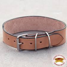 22 hilason heavy duty handmade genuine leather dog collar
