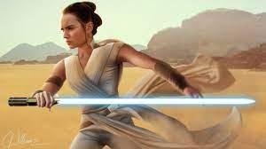 Rey Star Wars With Sword Digital Art ...