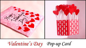 Diy Valentine Card Handmade Pop Up Card For Valentines Day