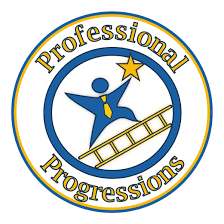 how to answer top interview questions part of  professional progressions circle logo web
