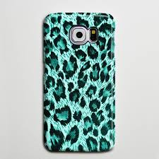 Turquoise Leopard iPhone 6 Case Galaxy s6 Edge Plus Cas \u2013 Retina Designs