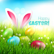 Easter Egg With Grass Background Art Vector Free Vector In