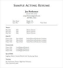 Talent Resume Template Inspiration Music Industry Resume Sample Simply Business Template Acting