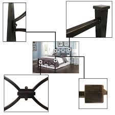 Marlo Bedroom Furniture California King Contemporary Marlo Metal Ornamental Bed By Fashion