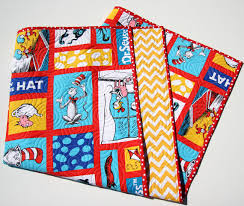 Cat In the Hat Quilt Kit Wholecloth Cheater Panel Yellow & Cat In the Hat Quilt Kit, Wholecloth Cheater Panel, Yellow Chevron, Dr  Seuss Blanket, Baby Project, Nursery Bedding, Beginner Simple Adamdwight.com