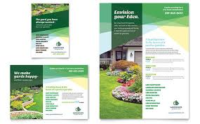 print ad templates landscaper flyer and ad template design by stocklayouts graphic