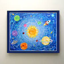 Solar System Bedroom Decor Prints For Kids Solar System 10x8 Print Kids Room Nursery