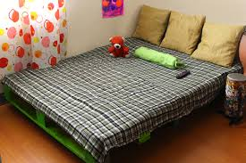 Pallet Bedroom Furniture How To Make A Pallet Bed Frame 6 Steps With Pictures Wikihow