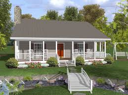 ranch home with deep covered front porch