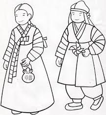 Small Picture Korean Hanboks coloring pages Just Wedeminute Culture Day
