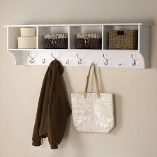 prepac furniture white 9 hook wall mounted coat rack