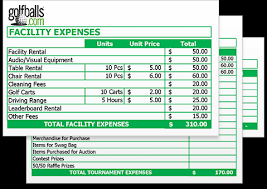 Budget Expenses Template Golf Tournament Budget Template Free Excel Sheet Download