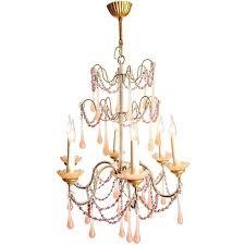antique boudoir pink glass droplet chandelier the kairos collective uk