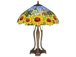 meyda tiffany wild sunflower multi color table lamp 119682