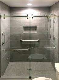 double shower door header incorporates two standard rollers per door for effortless sliding and two anti