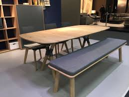 scandinavian style dining table with bench