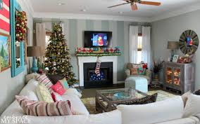 Living Room Christmas Decorations Our Colorful Christmas
