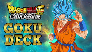 dragon ball super card game goku deck profile updated