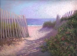 our path cape cod beach pastel painting by poucher