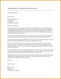 Professional Business Letters Examples Business Correspondence Sample Letter Format Australia Pdf With Cc
