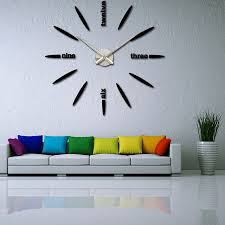 Awesome Quartz Watches Selling Acrylic Mirror DIY Clock Wall Clock Bedroom Wall  Clock Modern 3D Design Wall