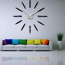 Awesome Quartz Watches Selling Acrylic Mirror DIY Clock Wall Clock Bedroom Wall  Clock Modern 3D Design Wall
