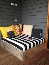 backyard ideas for a pallet bed frame