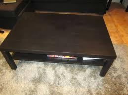 coffee table dark brown coffee table style vejmon coffee table black brown