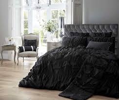 alexandra duvet quilt bedding set black linens range