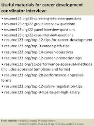 ... 15. Useful materials for career development ...