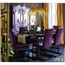 purple dining room cover chairs in purple velvet